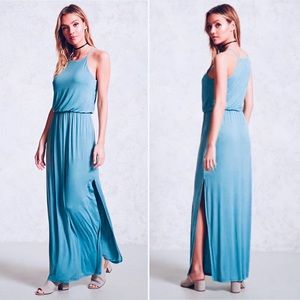 FOREVER 21 Draped Jersey Maxi Dress